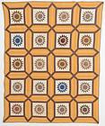 Rising Sun in Garden Maze Quilt: Circa 1860; New York State