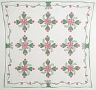 Cockscombs and Currants Quilt: Circa 1920; Pennsylvania