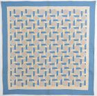 Interlocking Squares Quilt: Circa 1920; Pennsylvania