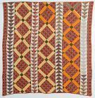 Improved Nine Patch and Wild Goose Chase Quilt: Circa 1870