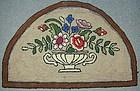 Half Circle Hooked Rug; Circa 1930