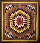 Starburst Quilt: Circa 1880; Pennsylvania