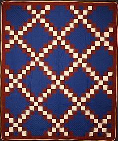 Irish Chain Quilt: Circa 1880; North Carolina