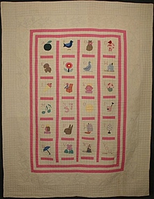 Alphabet Quilt: Dated 1930; Pennsylvania