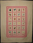 Alphabet Quilt: Dated 1930; Pennsylvania