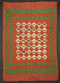 Maple Leaf Crib Quilt: Circa 1870; Pennsylvania