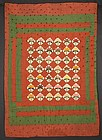 Maple Leaf Crib Quilt: Circa 1870; Pennsylvania