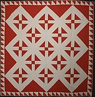 Hole in Barn Door Quilt: Circa 1890; Pa.
