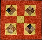 Four Patch Crib Quilt: Circa 1880; Pennsylvania