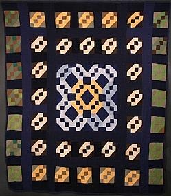 Amish Jacob's Ladder Quilt: Circa 1930; Pennsylvania