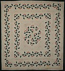 Berry and Leaf Medallion Quilt: Circa 1920; Pa.