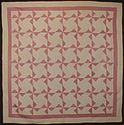 Pinwheels Quilt with Matching Pillow Sham: Circa 1920