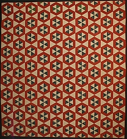 Double Hexagons Quilt: Circa 1860; Pennsylvania