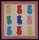 Cats Crib Quilt: Circa 1930; Pennsylvania