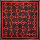 Mennonite Double X Quilt: Circa 1900; Pennsylvania