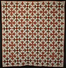 Turkey Tracks Quilt: Circa 1879; Pennsylvania