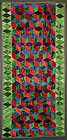 Tumbling Blocks Daybed Quilt: Circa 1920; Pennsylvania