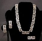 Margot de Taxco Silver Necklace, Earrings and Brooch