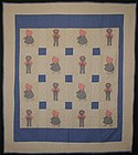 Sunbonnet Sue and Overall Sam Quilt: Ca. 1930; Pa.