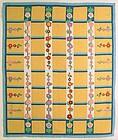 Hollyhocks Quilt Dated 1944, Pennsylvania