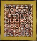 Four Patch in Diamond Quilt: Circa 1880; Pennsylvania