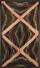 Mennonite Hooked Rug: Circa 1930; Ontario, Canada