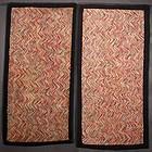 Pair of Herringbone Pattern Hooked Rugs