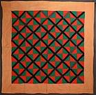 Mennonite X's Quilt: Circa 1920; Pennsylvania