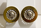 Gucci 18 Karat Gold with Sterling Sun Earrings