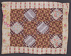 Economy Patch Doll Quilt: Circa 1890; Pennsylvania