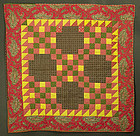 Irish Chain Crib Quilt: Circa 1880; Pennsylvania