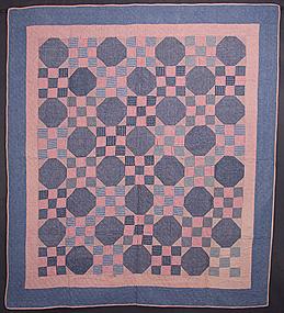Nine Patch Quilt: Circa 1910; Pennsylvania