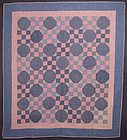 Nine Patch Quilt: Circa 1910; Pennsylvania