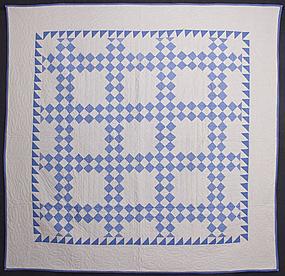 Twentyfive Patch Quilt: Circa 1920; Pennsylvania
