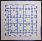 Twentyfive Patch Quilt: Circa 1920; Pennsylvania