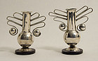 William Spratling Silver & Ebony Mini Vases
