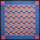 Mennonite Octagons Quilt: Circa 1920; Pennsylvania