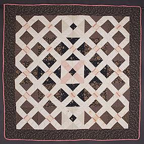 Cross Roads Crib Quilt: Circa 1880; Pennsylvania
