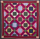 Economy Patch Crib Quilt: Circa 1890; Pennsylvania