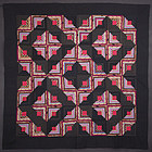 Light and Dark Mennonite Log Cabin Quilt: Ca. 1870; Pa.