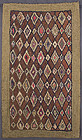 Concentric Diamonds Hooked Rug; Circa 1920; Pa.