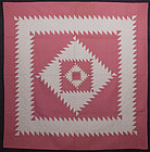 Sawtooth Diamond Quilt: Circa 1920; Pennsylvania
