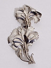 Sterling Silver Floral Brooch by Chato Castillo