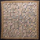 Thousand Pyramids Quilt: Circa 1850; Pennsylvania