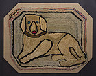 Dog Hooked Rug: Circa 1930; Virginia