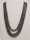 William Spratling Triple Strand of Silver Beads