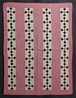 Nine Patch in Bars Crib Quilt: Ca. 1880; Wisconsin