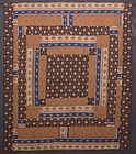 Center Medallion Quilt: Circa 1870