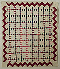 Nine Patch Chain Quilt: Circa 1889; Pennsylvania
