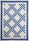 Irish Chain Crib Quilt: Circa 1920; Pennsylvania
